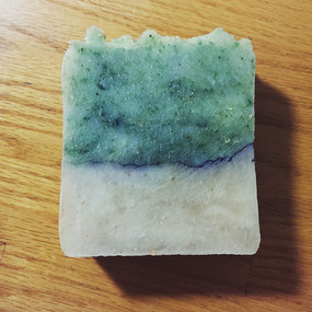 Gooseberry Beach Hot Process Soap - Salt Water, Kelp, Bamboo... Summer Limited Edition, Coconut-Free Formula