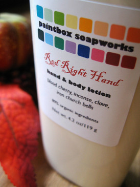 Red Right Hand Organic Hand and Body Lotion - Blood Cherry, Incense, Clove, Church Bells... Weenie Limited Edition