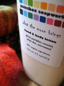 What the Moon Brings Organic Hand and Body Lotion - Ghost Pumpkin, Coconut, White Lilac, Wormwood... Weenie Limited Edition