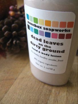 Dead Leaves on the Dirty Ground SAMPLE SIZE Organic Hand and Body Lotion - Dry Leaves, Bonfire Smoke, Frost... Limited Edition