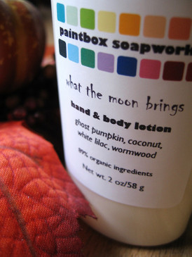 What the Moon Brings SAMPLE SIZE Organic Hand and Body Lotion - Ghost Pumpkin, Coconut, White Lilac, Wormwood... Weenie Limited Edition