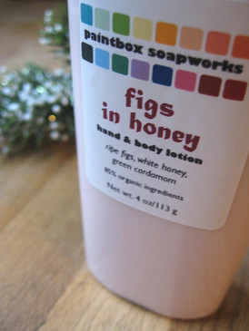Figs in Honey Organic Hand and Body Lotion - Ripe Fig, White Honey, Green Cardamom... Yuletide Limited Edition