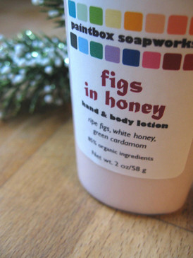 Figs in Honey Organic Hand and Body Lotion SAMPLE SIZE - Ripe Fig, White Honey, Green Cardamom... Yuletide Limited Edition