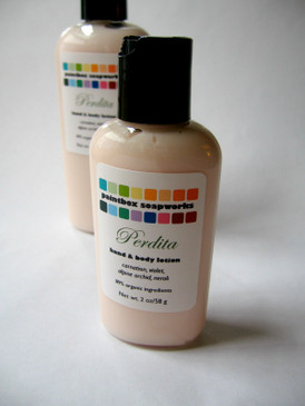 Perdita SAMPLE SIZE Organic Hand and Body Lotion - Carnation, Alpine Orchid, Violet, Neroli...