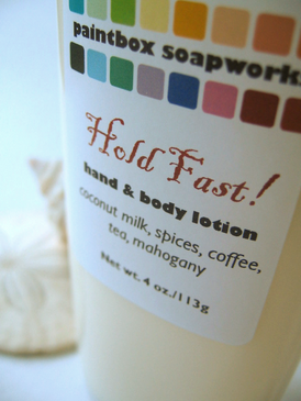 Hold Fast! Organic Hand and Body Lotion - Coconut Milk, Spices, Coffee, Tea, Mahogany... Summer Limited Edition