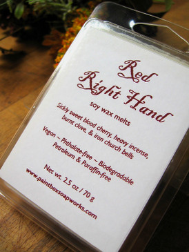 Red Right Hand Soy Wax Melts - Blood Cherry, Incense, Clove, Church Bells... Weenie Limited Edition