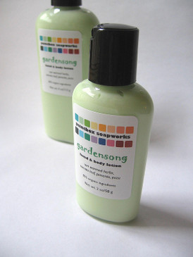 Gardensong SAMPLE SIZE Organic Hand and Body Lotion - Sun Warmed Herbs, Tomato Leaf, Pimento, Yuzu... Summer Limited Edition