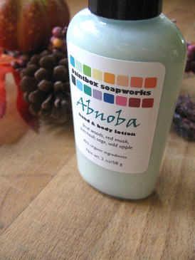 Abnoba SAMPLE SIZE Organic Hand and Body Lotion - Deep Forest Woods, Patchouli, Red Musk, Wild Apple, Sage...