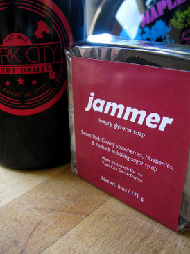 Jammer Luxury Glycerin Soap - Fresh Berries, Rhubarb, Hot Sugar... York City Derby Dames Benefit
