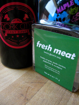 Fresh Meat Luxury Glycerin Soap - Freshly Cut Grass, Bamboo, Mint & Eucalyptus... York City Derby Dames Benefit