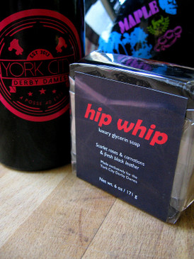Hip Whip Luxury Glycerin Soap - Rose, Carnation, Fresh Leather... York City Derby Dames Benefit