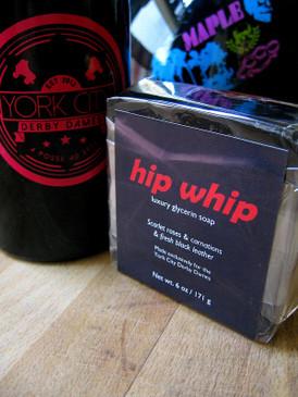 Hip Whip Luxury Glycerin Soap - Rose, Carnation, Fresh Leather... York City Derby Dames Benefit