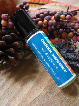 Indian Summer Hair & Perfume Oil - Amber, Fresh Hay, Ripe Peaches, Blackberries... Weenie Limited Edition