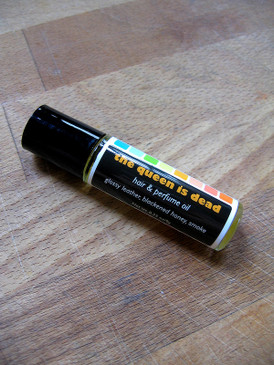 The Queen is Dead Hair & Perfume Oil - Honey, Leather, Incense Smoke... Limited Edition