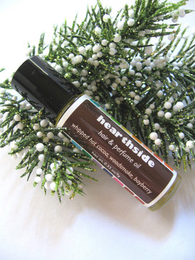 Hearthside Hair & Perfume Oil - Hot Cocoa, Sweet Woodsmoke, Bayberry... Yuletide Limited Edition