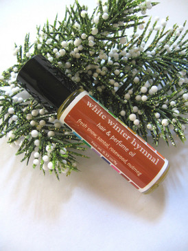 White Winter Hymnal Hair & Perfume Oil - Fresh Snow, Santal, Nutmeg, Rosewood... Yuletide Limited Edition