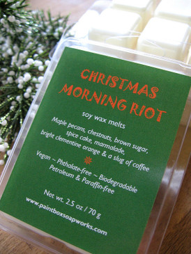 Christmas Morning Riot Soy Wax Melts - Maple Nuts, Brown Sugar, Clementines, Coffee... Yuletide Limited Edition