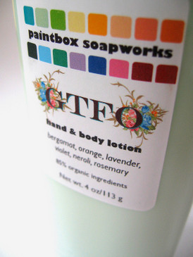 GTFO Organic Hand and Body Lotion - Bergamot, Orange, Lavender, Violet, Neroli, Rosemary... Midwinter Limited Edition