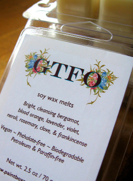 GTFO Soy Wax Melts - Bergamot, Orange, Lavender, Violet, Neroli, Rosemary...