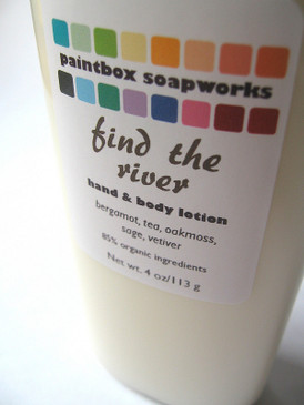 Find the River Organic Hand and Body Lotion - Bergamot, Tea, Oakmoss, Sage, Vetiver... Spring Limited Edition