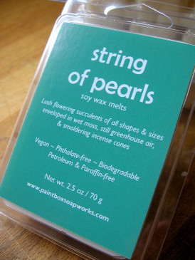 String of Pearls Soy Wax Melts - Flowering Succulents, Incense, Wet Moss... Spring Limited Edition