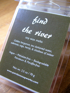 Find the River Soy Wax Melts - Bergamot, Tea, Oakmoss, Sage, Vetiver... Spring Limited Edition
