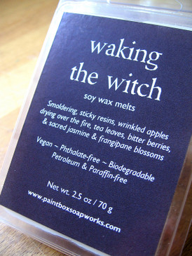 Waking the Witch Soy Wax Melts - Sticky Resins, Smoke, Dried Apple, Blackened Flowers...