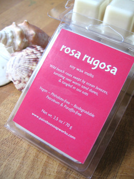 Rosa Rugosa Soy Wax Melts - Wild Beach Rose, Warm Sand, Driftwood... Summer Limited Edition