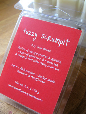 Fuzzy Scrumpit Soy Wax Melts - Peach, Apricot, Guava, Rooibos, Flannel... Summer Limited Edition