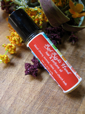 Red Right Hand Hair & Perfume Oil - Blood Cherry, Incense, Clove, Church Bells... Weenie Limited Edition