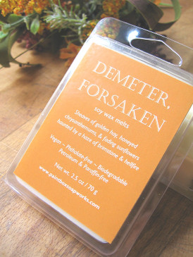 Demeter, Forsaken Soy Wax Melts - Hay, Chrysanthemum, Sunflower, Brimstone... Weenie Limited Edition