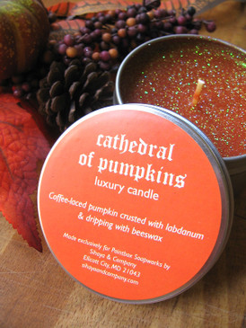 Cathedral of Pumpkins Luxury Candle - Pumpkin, Coffee, Labdanum, Beeswax... Weenie Limited Edition