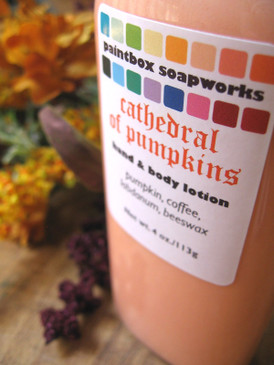 Cathedral of Pumpkins Organic Hand and Body Lotion - Pumpkin, Coffee, Labdanum, Beeswax... Weenie Limited Edition