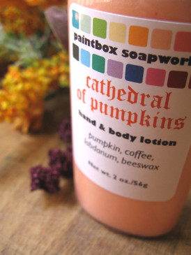 Cathedral of Pumpkins SAMPLE SIZE Organic Hand and Body Lotion - Pumpkin, Coffee, Labdanum, Beeswax... Weenie Limited Edition