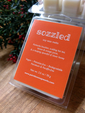 Sozzled Soy Wax Melts - Kentucky Bourbon, Tea, Lemon, Orange, Honey... Yuletide Limited Edition