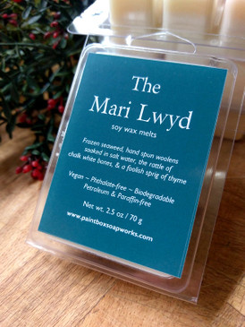 The Mari Lwyd Soy Wax Melts - Frozen Seaweed, Wool, Salt Water, Thyme... Yuletide Limited Edition