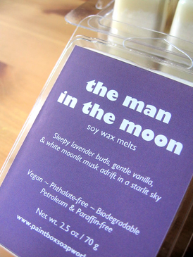The Man in the Moon Soy Wax Melts - Lavender, Vanilla, Moonlit Musk...