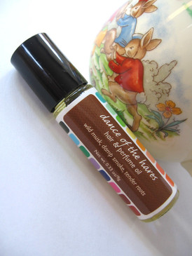 Dance of the Hares Hair & Perfume Oil - Wild Musk, Damp Smoke, Tender Roots... Spring Limited Edition