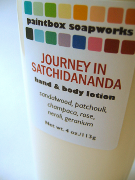 Journey in Satchidananda Organic Hand and Body Lotion - Sandalwood, Patchouli, Champaca, Rose, Neroli, Geranium... Summer Limited Edition