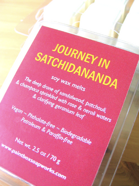 Journey in Satchidananda Soy Wax Melts - Sandalwood, Patchouli, Champaca, Rose, Neroli, Geranium... Summer Limited Edition