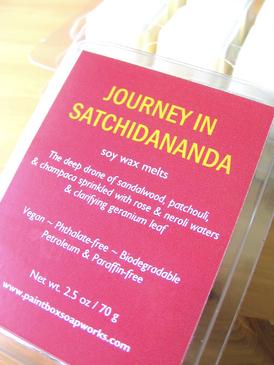 Journey in Satchidananda Soy Wax Melts - Sandalwood, Patchouli, Champaca, Rose, Neroli, Geranium... Summer Limited Edition