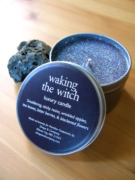 Waking the Witch Luxury Candle - Sticky Resins, Smoke, Dried Apple, Blackened Flowers...
