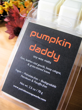 Pumpkin Daddy Soy Wax Melts - Pumpkin, Leather, Cologne, Grass Stains... Weenie Limited Edition