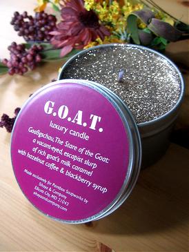 G.O.A.T. Luxury Candle - Cajeta, Hazelnut Coffee, Blackberry Syrup... Weenie Limited Edition