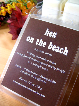 Hex on the Beach Soy Wax Melts - Shea Butter, Woodsmoke, Warm Skin... Weenie Limited Edition