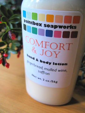 Comfort & Joy Organic Hand and Body Lotion SAMPLE SIZE - Gingerbread, Mulled Wine, Saffron... Yuletide Limited Edition