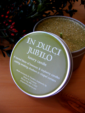 In Dulci Jubilo Luxury Candle - Beeswax & Bayberry Candles... Yuletide Limited Edition