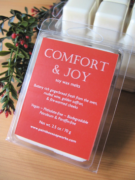 Comfort & Joy Soy Wax Melts - Gingerbread, Mulled Wine, Saffron... Yuletide Limited Edition