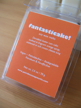 Fantasticake! Soy Wax Melts - Butter Rum Cake, Orange Syrup, Cream Cheese Icing... Midwinter Limited Edition