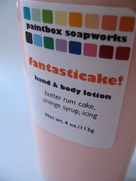 Fantasticake! Organic Hand and Body Lotion - Butter Rum Cake, Orange Syrup, Cream Cheese Icing... Midwinter Limited Edition